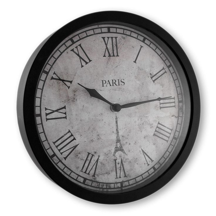 Paris Wall Clock With Roman Numerals 10 In.