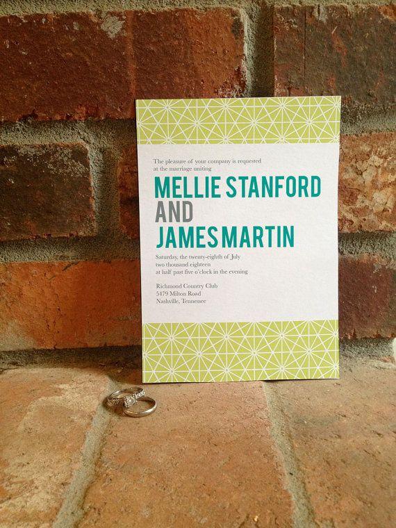 Geometric, Modern Wedding Invitation - DIY Printable by FiraPrintables