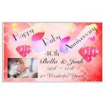 Personalized Happy 40th Wedding Anniversary Banner #weddinginspiration #wedding #weddinginvitions #weddingideas #bride