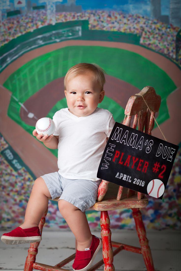 Baby number 2 announcement. Baseball pregnancy announcement. Jenn Tuttle, Loveographer.