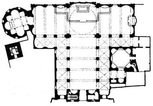 Donato Bramante, S. Maria Presso S. Satiro, Plan, Milan, Italy,…  #architecture #drawing Pinned by www.modlar.com