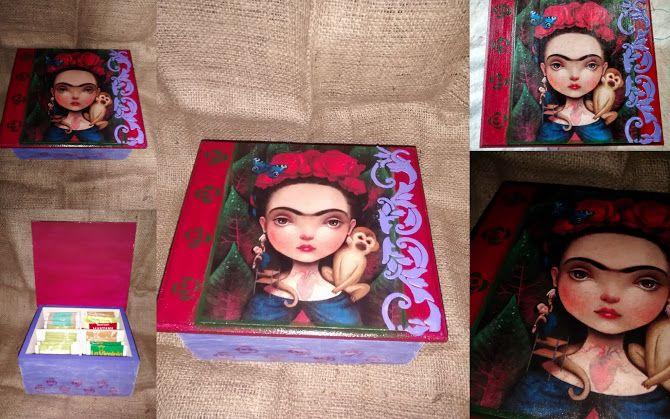 caja de te ,frida kahlo !!!