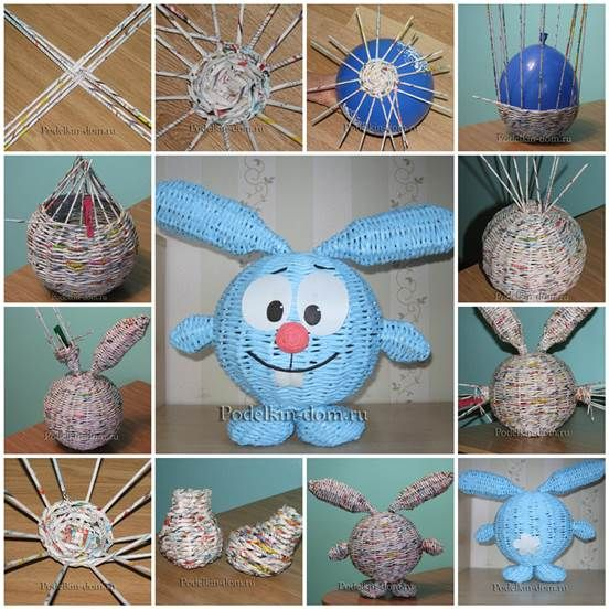DIY Cute Woven Paper Rabbit | iCreativeIdeas.com Follow Us on Facebook --> https://www.facebook.com/icreativeideas