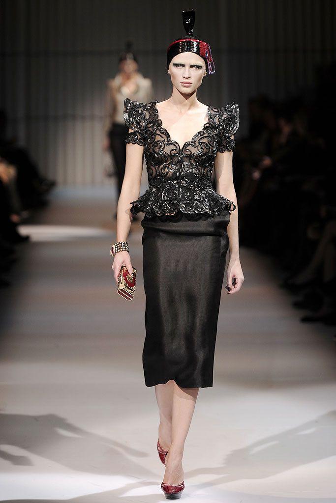 Armani Privé Spring 2009 Couture Fashion Show