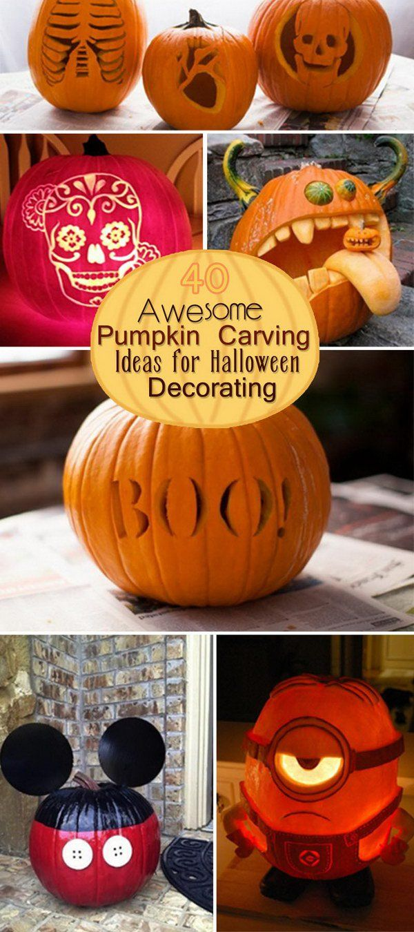 Awesome Pumpkin Carving Ideas for Halloween Decorating!