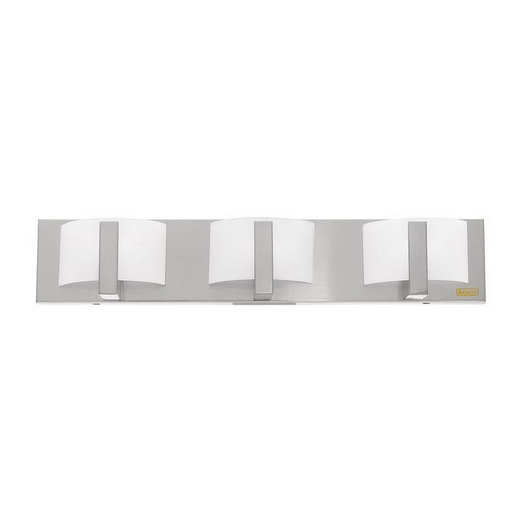 Access Lighting Oracle 3-Light 4.5-in Brushed Steel Geometric Vanity Light Bar