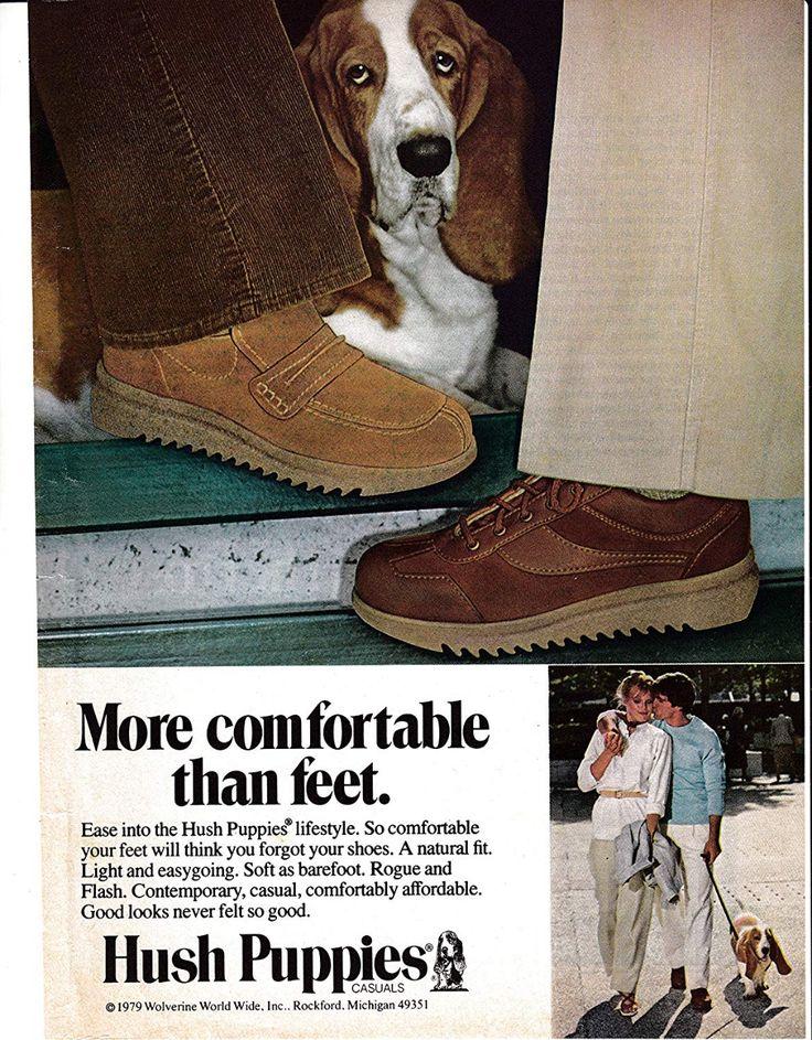 1979 Hush Puppies Mens ShoesBasset Hound