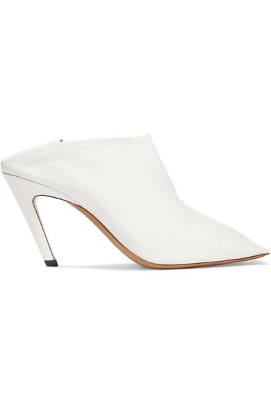 Balenciaga - Glossed-leather Ankle Boots - White - IT39.5