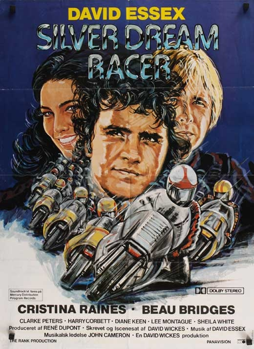 Silver Dream Racer. I really like this movie. I managed to get David Essex to sign the cover of my dvd on new years eve, 2009. He had just starred as Cpt. Hook in Peter Pan. Royal & Derngate, Northampton.