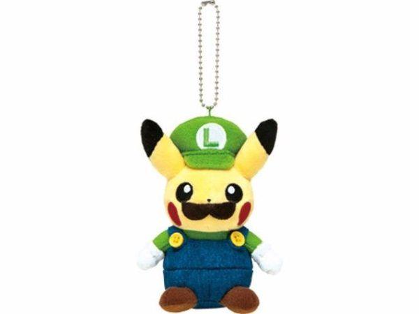 Plush Pikachu Cosplays Mario And Luigi