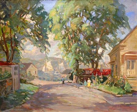 Cape Ann Street Scene  James King Bonnar (American 1885-1961)