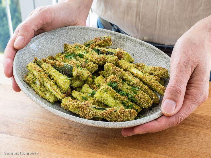 Knusprig+panierte+Zucchini