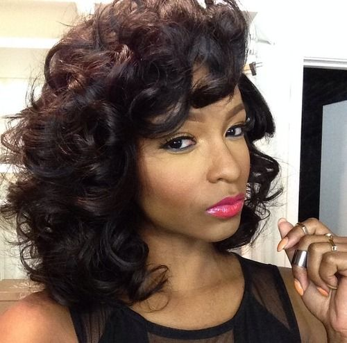 13 Curly Short Weave Hairstyles: 25+ Best Ideas About Roller Set On Pinterest