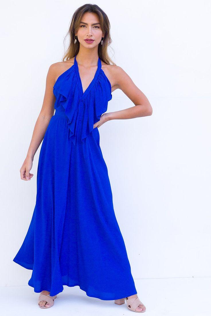 Belle Starr Maxi Dress Lapis Blue