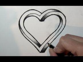 Wie zeichnet man ein 3d Herz mit bleistift- Online…