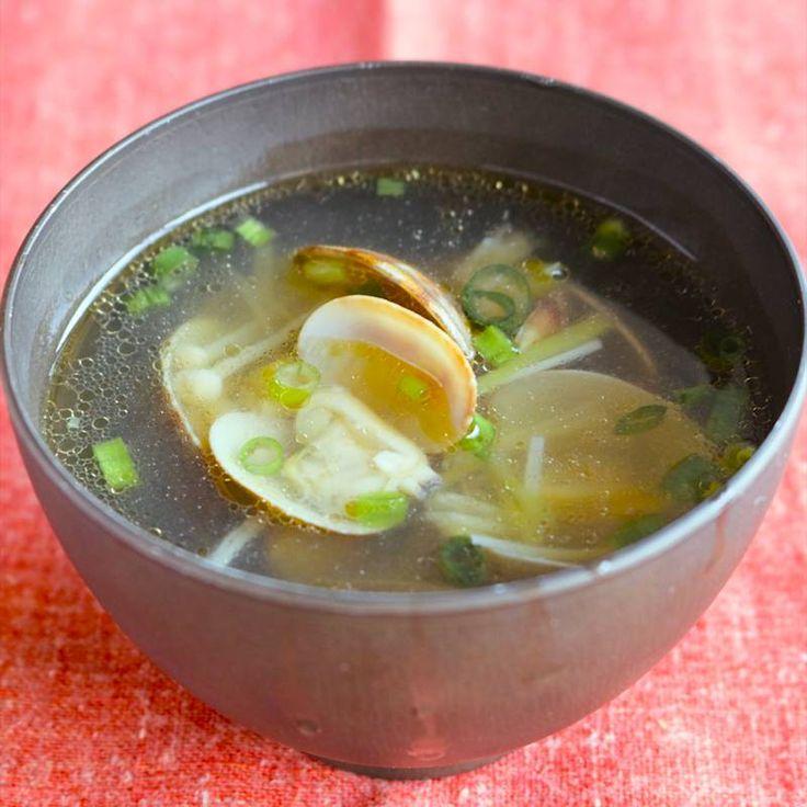 アサリの中華スープ