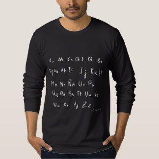 Abecedario con letra como si fuera de niño camisetas