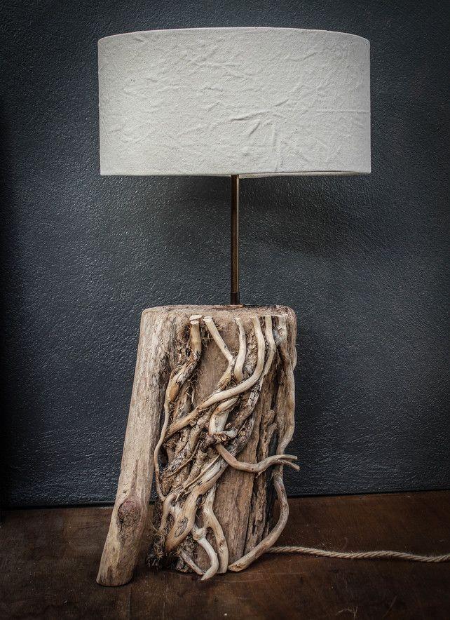 Driftwood Lamp,Rustic trunk wood Lamp,Drift Wood Lamp,Table Lamp