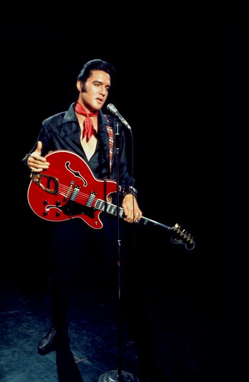 """Performing during the 1968 """"Elvis"""" NBC-TV Special, commonly referred to as the """"'68 Comeback Special"""". The program aired on December 3, 1968."""