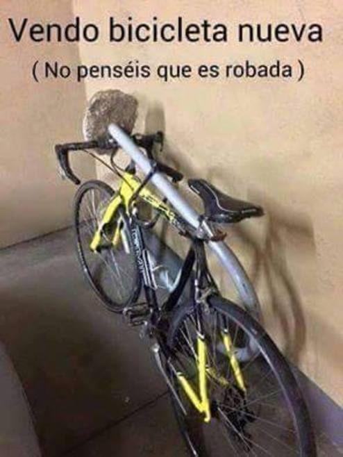 Vendo bicicleta nueva no penséis que es robada