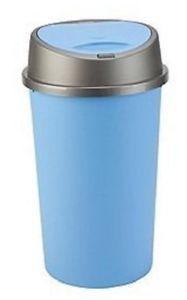 45L Touch Top Bin Plastic Dustbin Blue Rubbish Waste Bin Kitchen Home Office New  #Plastic #Dustbin #45L