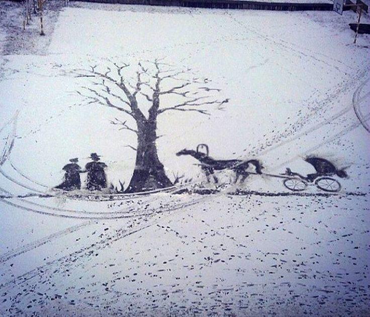 Schnee-Bild von Semjon Bucharin