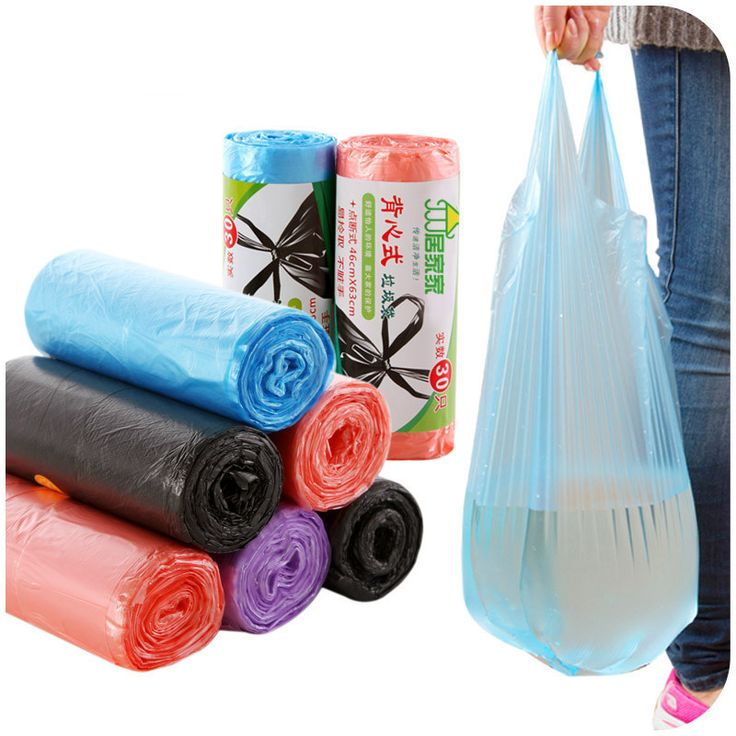 2 rolls thick Vest Design garbage bags disposable Multicolour Plastic Bag for modern kitchen supplies garbage collection bag