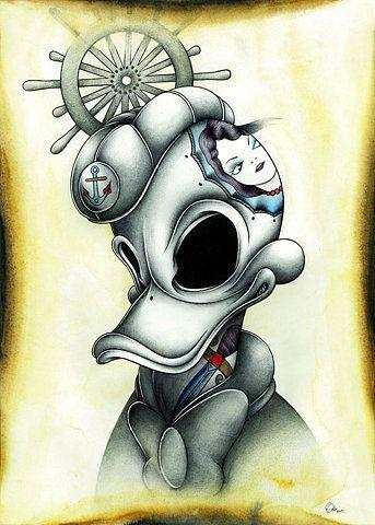Donald Duck Cartoon Tattoo design - I want Tattoo | I want Tattoo