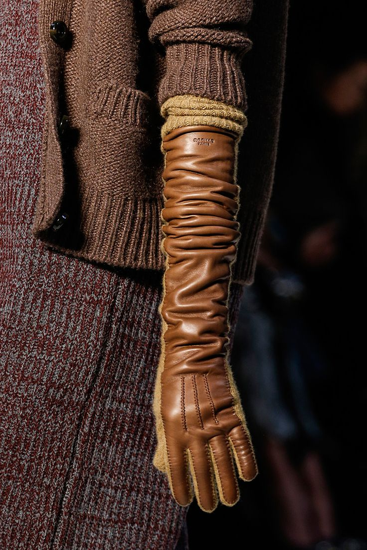 Black leather gloves with red buttons -  Tall Women Gloves Rochas