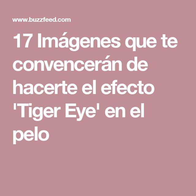 17 Imágenes que te convencerán de hacerte el efecto 'Tiger Eye' en el pelo