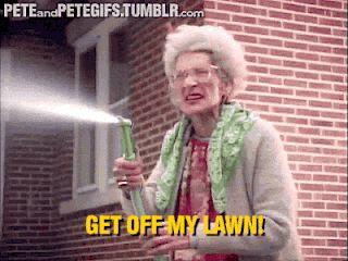 Get off my lawn redhead
