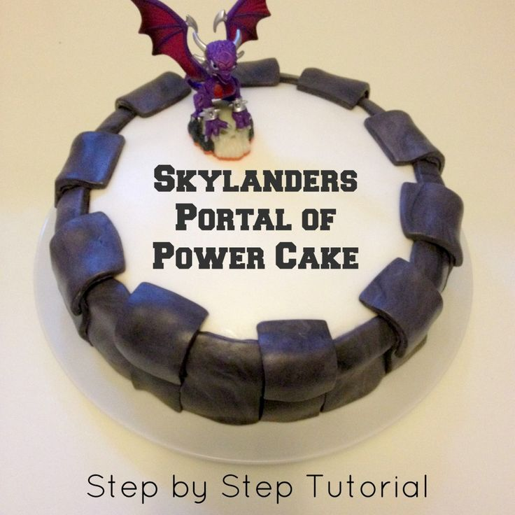 Skylanders Portal of Power Cake: This is a step-by-step tutorial to create a portal of power for your Skylanders mad child!