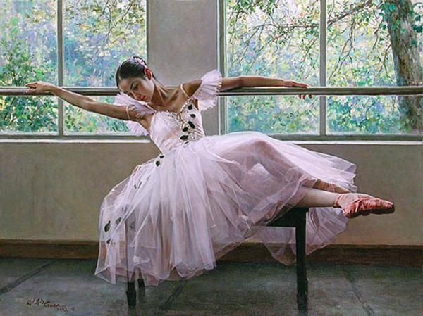 Ballet-oil-paintings