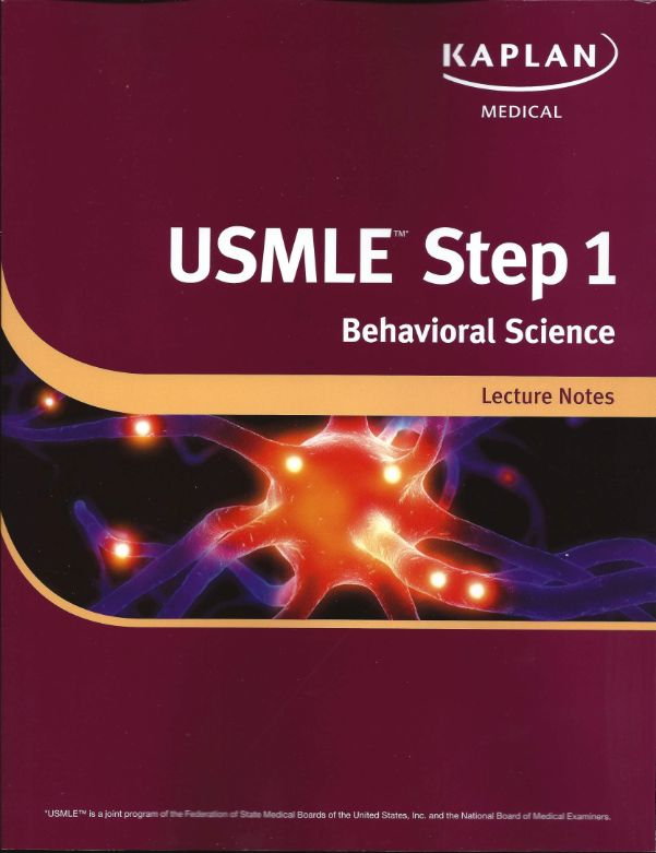 FREE MEDICAL BOOKS: Kaplan USMLE-1 Behavioral Science