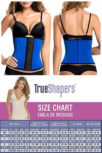 Women Shapewear: Shapewear For Women: Trueshapers 1063 Latex-Free High Compression Waist Cincher BUY IT NOW ONLY: $47.0