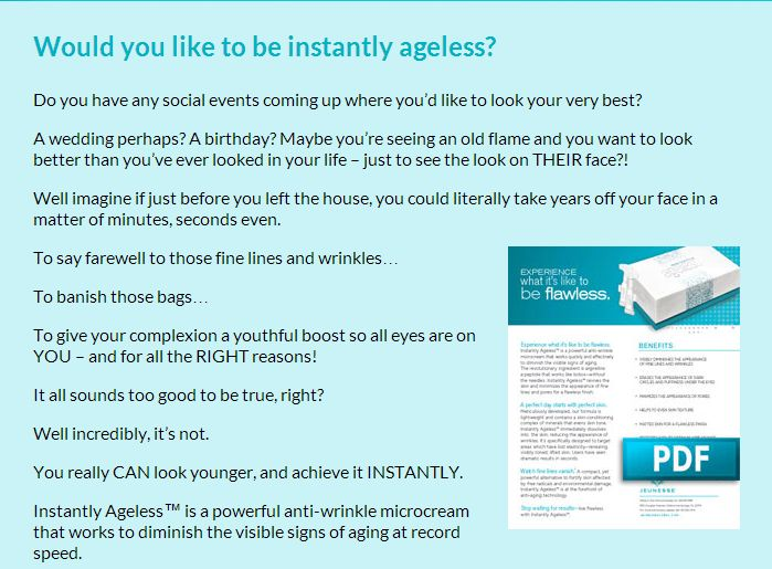 Would you like to be instantly ageless? #instanlyageless #jeunesse http://earntoday.jeunesseglobal.com/products.aspx?p=INSTANTLY_AGELESS