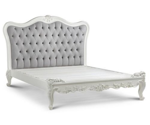 Jolie French Provincial Upholstered White Bed - AFFORDABLE LUXURY! #LS #FrenchProvincial