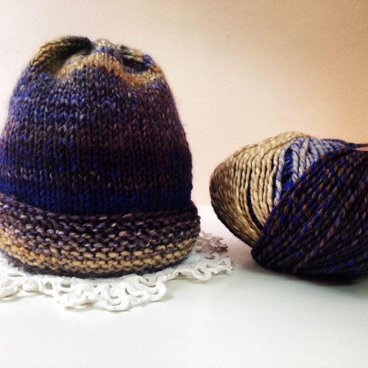 Gorro tejido con lana Arco Iris