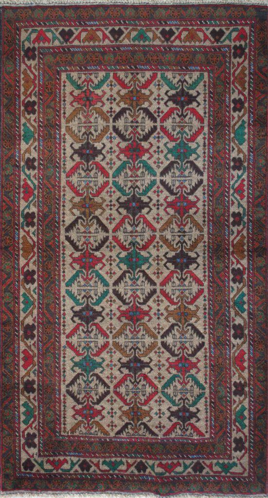 Handmade Woolen rug area BELUTCH 0,80x 1,40 cm - ioakeimidis