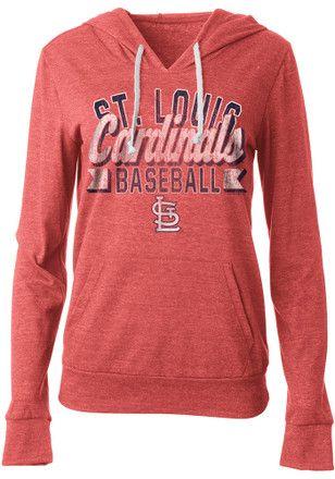 St Louis Cardinals Womens Red Tri-Blend Hoodie