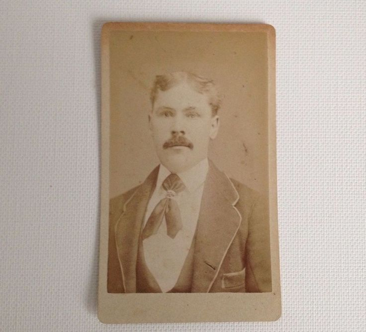 CDV Photo Rome NY Antique Hovey Brainerd Photograph Young Man with Mustache  | eBay
