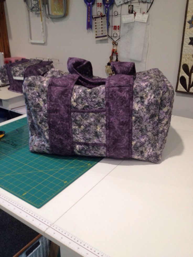 Overnight bag, pattern from Crafty