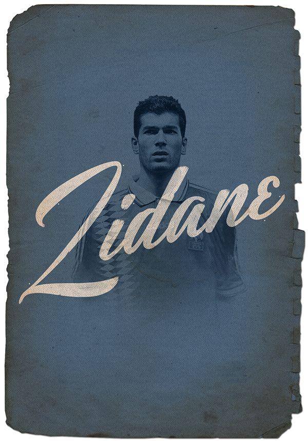 Zidane // Cruyff y los 5 grandes on Behance
