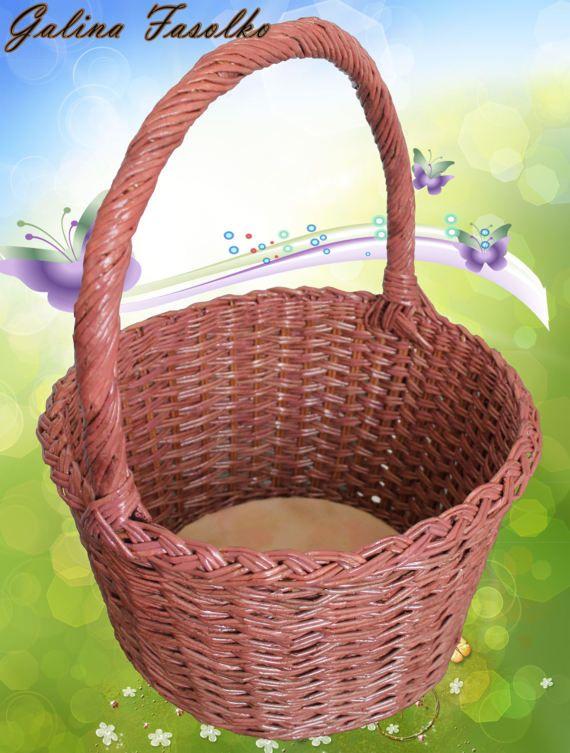 Round wicker basket/Classic Wicker by CharmingWickerBasket on Etsy