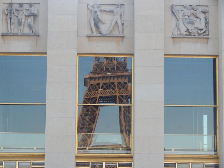 #Trocadero #ReflectionofEiffelTower #Paris