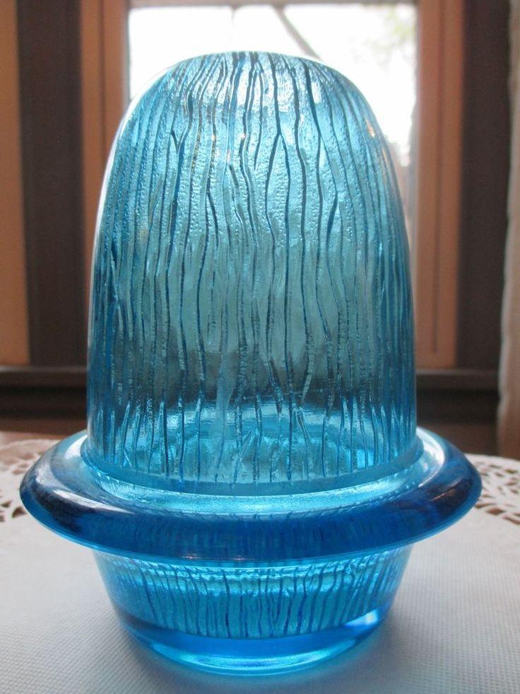 Vintage fairy lamp light blue ice