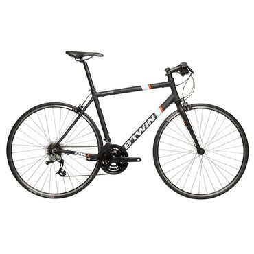 Bicicleta TRIBAN 500     leve;  quadro de estrada; aro esportivo;  guidão plano e confortável;  transmissão push-pull; urbana.