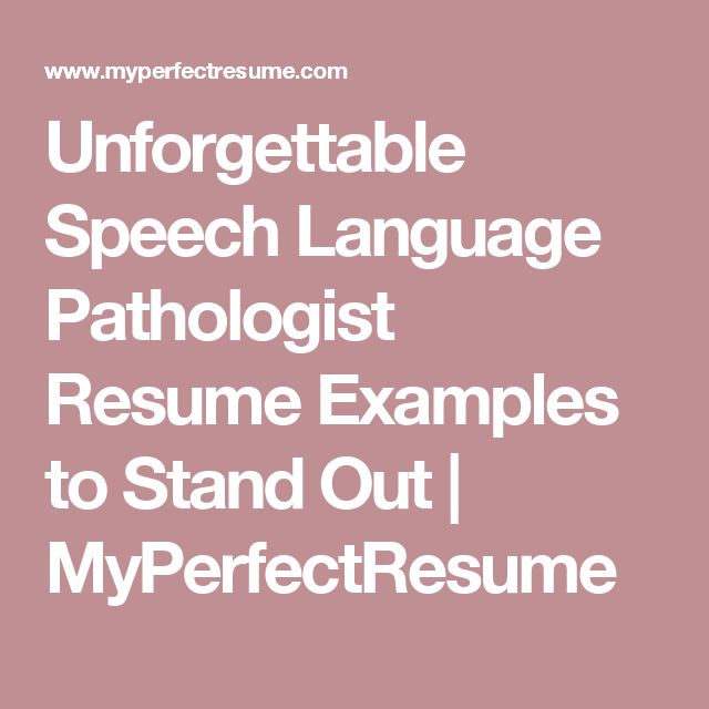Speech Language Pathology Cover Letter: 25+ Best Ideas About Professional Resume Samples On