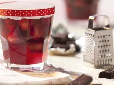Kriekenconfituur met chocolade