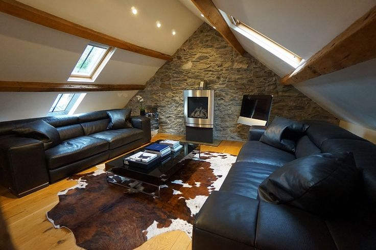 The sitting room at The Barn in Capel Garmon, which is on the market for £465,000